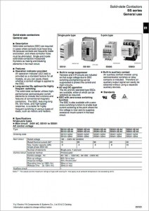 01_06Solid-state contactor SS series (FUJI)