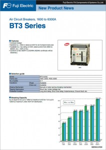 14 Air Circuit Breakers, 1600 to 6300A BT3 SERIES