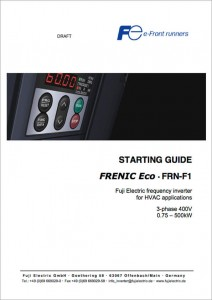 Frenic_Eco Starting Guide